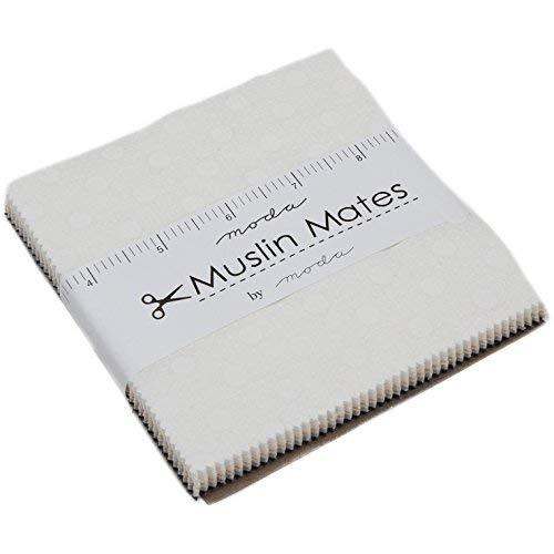 Moda Classic - Colcha de muselina 2018 con diseño de lunares, cuadrados de tela precortada de 106,68-12,7 cm