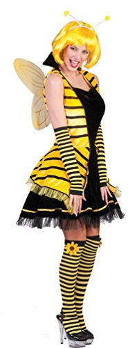 Karneval Klamotten' Kostüm Kleid Biene Dame Kostüm Karneval Tier Damenkostüm Größe 40/42