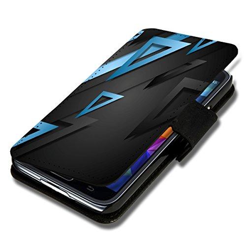 Book Style Flip Handy Tasche Case Schutz Hülle Schale Motiv Foto Etui für LG Bello 2 / Bello II - X3 Design5