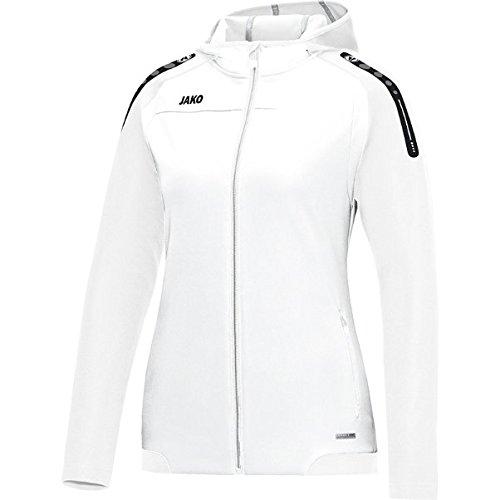 JAKO Damen Champ Basic-Kapuzen-Jacke, weiß, 44 Preisvergleich
