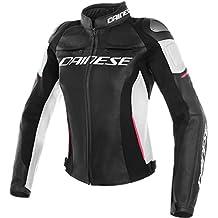 6492f7e7112 Dainese Mujer Moto Chaqueta de piel Racing 3 Lady pelle