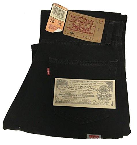 JEANS PANTALONE UOMO ORIGINALE LEVI'S - MODELLO 501 - 100 % COTONE (W 29 L 36, MARRONE SCURO)