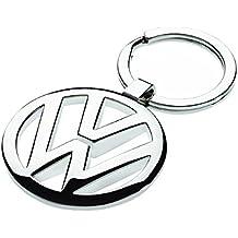 TLC Auto Accessories - Llavero cromado 3D, diseño de logotipo de Volkswagen, color plateado
