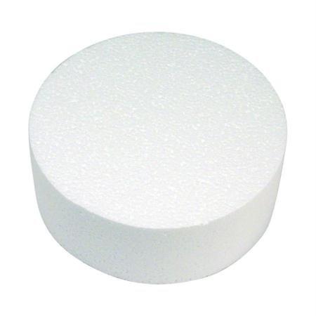 RAYHER Styropor-Scheibe, Durchmesser: 20cm, Höhe: 7cm, ideal als Cake Pop Ständer/ Kuchen-Dummy