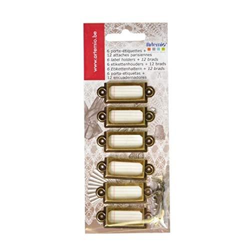 Artemio - Porta etichette con bottoni per il fissaggio
