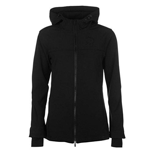 Requisite Damen Soft Shell Reitjacke Warm Reitsport Jacke Fleece Gefuettert Schwarz 8 (XS)