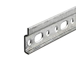 Gedotec Wandschiene Hängeschrank Schrank-Aufhänger Aufhängeschiene - Oberschrank   Montageschiene mit Länge 2000 mm   Stahl verzinkt   Tragkraft 240 kg   1 Stück - Metall Hänge-Schiene ohne Schrauben