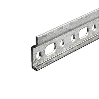 Gedotec Wandschiene Hängeschrank Schrank-Aufhänger Aufhängeschiene - Oberschrank | Montageschiene mit Länge 2000 mm | Stahl verzinkt | Tragkraft 240 kg | 1 Stück - Metall Hänge-Schiene ohne Schrauben