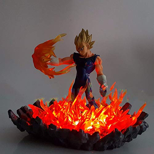 Dragon Ball Z Vegeta Super Saiyan Led Bombilla De Iluminación Base Dragón Bola Super Goku Vegeta Luces Nocturnas