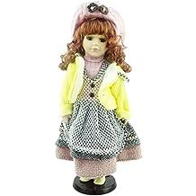 Bambola della Porcellana La Collezione Shannon - Outlet Brunette Edition Vintage (Giallo Jumper Giubbotto Maglia (C))