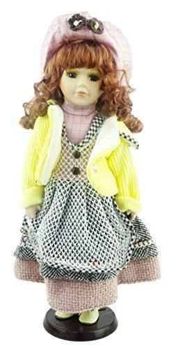 Muñeca De Porcelana La Colección De Shannon - Edición Del Brunette De Los Trajes Del Vendedor (Delantal Hecho El Puente Amarillo (C))