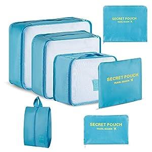 Newdora Kleidertaschen Set, 7 unterschiedliche Größen zur Organisation Ihres Reisegepäcks