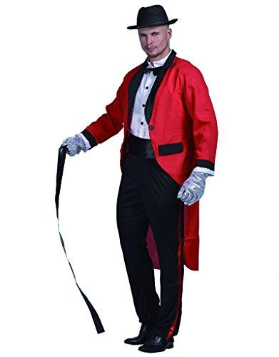 EraSpooky Zirkus Zirkusdirektor Halloween Kostümen Männer Löwe Tamer Tiertrainer (Herren Zirkus Ringmaster Kostüm)