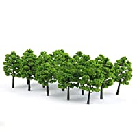 Carry stone 20 Model Trees Train Railroad Diorama Wargame Park Scenery Green Plants Decor Durable and Useful