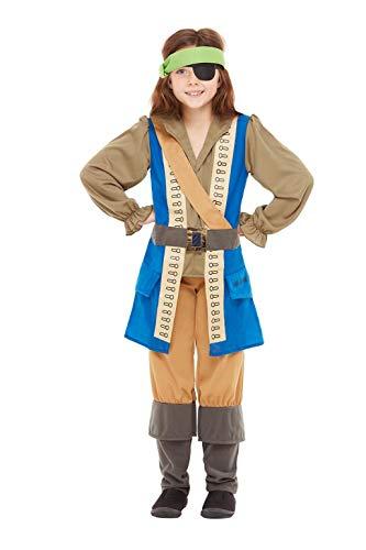 Smiffys 48779M - Disfraz de capitán pirata con licencia oficial, talla M, 7-9 años