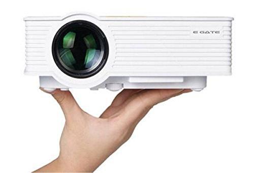 "Egate LED HD PROJECTOR (White) - HD 1920 X 1080 – HDMI – USB - VGA – 120"" DISPLAY"