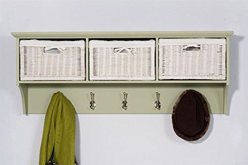 Tetbury hanging shelf with 3 storage baskets