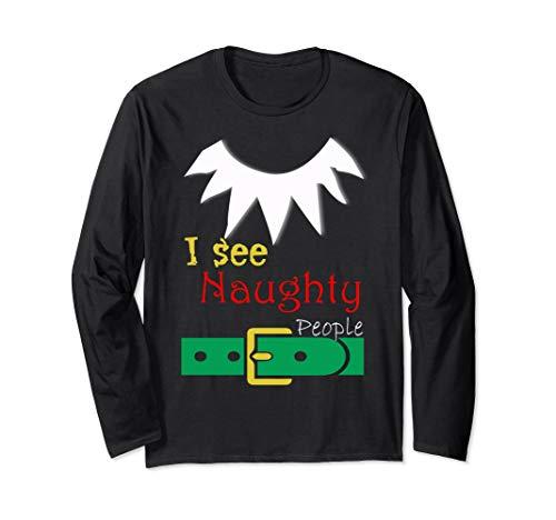 I See Naughty People Lustig Weihnachtsmann Grafik (Naughty Santa Kostüm)