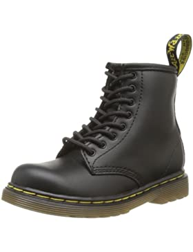 Dr. Martens INFANTS Softy T BLACK - Zapatos con cordones de cuero infantil