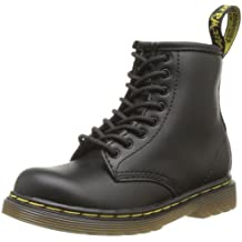 Dr. Martens INFANTS Softy T BLACK - Zapatos con cordones de cuero infantil
