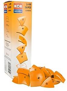 Geomag- KOR Color Cover Juego de construcción, Naranja, 26 Piezas (571)