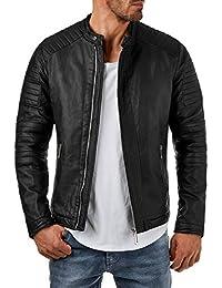 Amazon.it: giacca in pelle uomo M Uomo: Abbigliamento