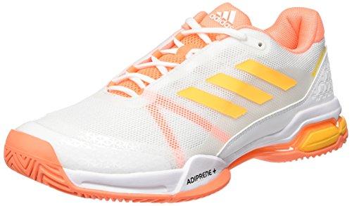 adidas Herren Barricade Club Tennisschuhe Weiß (Ftwr White/Solar Gold/Glow Orange)
