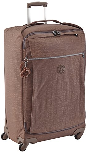 Kipling Darcey L Laptop Rollkoffer, 89 Liter, Cool Grey C Monkey Brown
