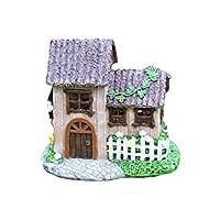HH Home Hut Fairy Solar house fence Garden Ornament Decor Pixie