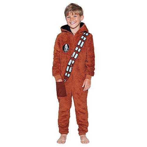 Krieg der Sterne Chewbacca Jungen Neuheit Kleid Up Hooded Fleece-Einteiler 345678910Jahre, Braun Star Wars Chewbacca Fleece