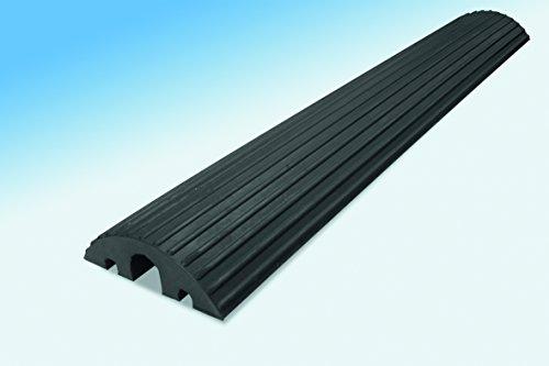 Preisvergleich Produktbild MORAVIA Kabelbrücke, aus Hartgummi, 2 Kabelkanäle 20 x 20 mm, 1 Kabelkanal 45 x 45 mm, schwarz, 279.21.784