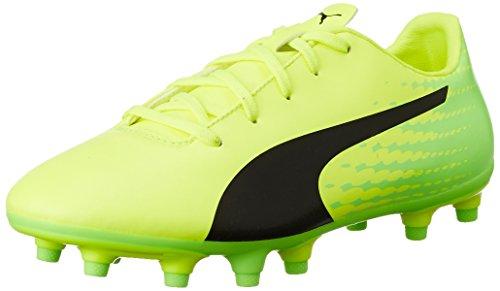 Puma Evospeed 17.5 Fg Jr, Chaussures de Football Compétition Mixte Enfant, Jaune (Safety Yellow-Puma Black-Green Gecko 01), 34 EU