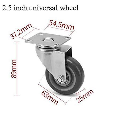 SHOP YJX 2-Achs-Lenkrollen 2,5-Zoll-, 3-Zoll- Und 4-Zoll-Universalbremsrollen Möbelrollen (Color : B-Universal Wheel, Size : 2.5 inches)
