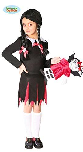 Guirca Costume vestito Mercoledi famiglia addams halloween bambina 8259_ 5-6 anni