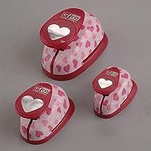efco–Perforadora de papel, diseño de corazón, color rosa