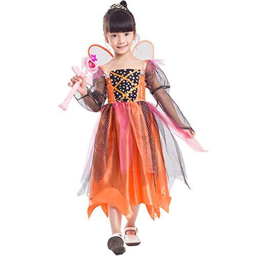 FDHNDER Child Cosplay Kleid Verrücktes Kleid Partei Kostüm Outfit Kinderkostüm Dress Theme Party, 5-6 Jahre alt