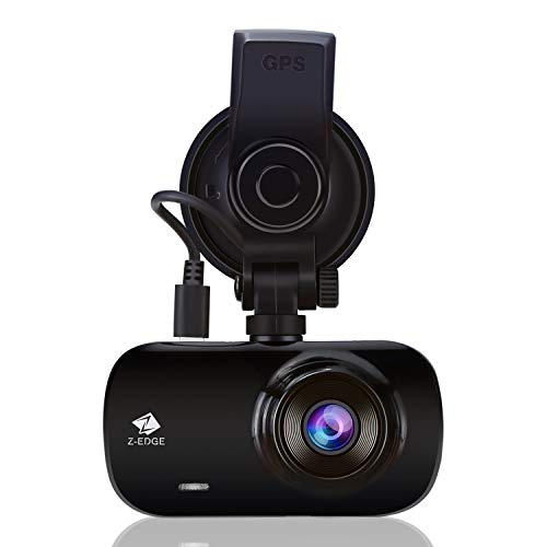 Z-Edge GPS Dashcam Autokamera Ultra HD 1440P 2,7 Zoll LCD Bildschirm, 150° Weitwinkelobjektiv, Loop-Aufnahme, WDR, G-Sensor, Bewegungserkennung, Parküberwachung, inkl. Kfz Ladegerät