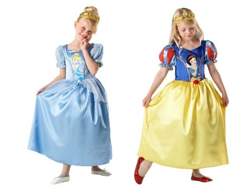 DISNEY PRINCESS ~ Cinderella to Snow White (Reversible) - Kids Costume 7 - 8 years