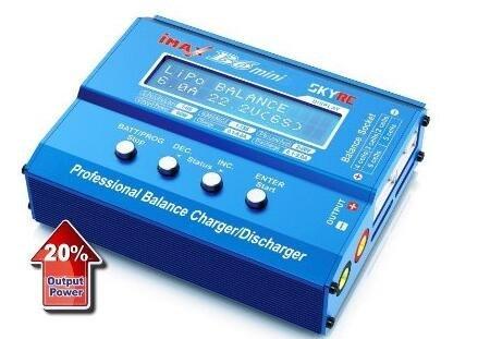 AcTopp SKYRC Originale Caricabatterie al Litio Caricatore di Batterie al Litio iMAX B6 Controllo Computerizzato 2-6S XH Plug-in Balance Sockets 6A 60W - Blu