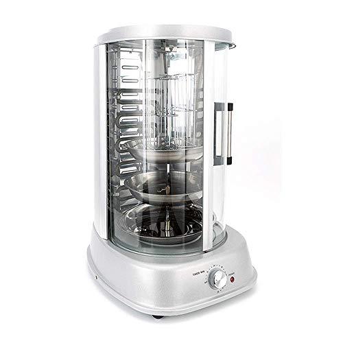 Grill Rotatif Vertical 1500W Avec Minuterie, 31 Litres, Machine 4 En 1 Kebab Fait Maison Viande De Poulet Centrale Simple Brûleur...