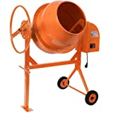 Timbertech Betonmischer Mörtelmischer Rührwerk 140 Liter / 650 Watt, stabiles Stahlgestell