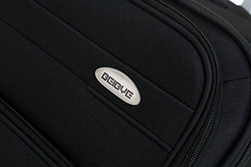 BEIBYE 4 Rollen Reisekoffer 8005 Stoffkoffer Gepäck Koffer Trolley SET-XL-L-M in 5 Farben (L,Schwarz) - 2