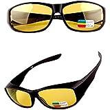 نظارات شمسية عصرية كلاسيكية رجعية للرجال رؤية ليلية مضادة للوهج نظارات شمس عالية الدقة بالأشعة فوق البنفسجية