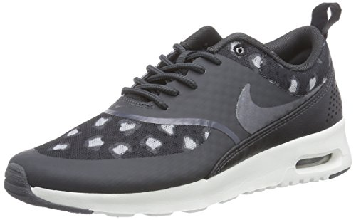 Nike Air Max Thea Print Damen Sneakers, Grau (Black/Dark Grey-Anthracite-Wolf Grey-Summit White), 37.5 EU (Springs, Nur Box)