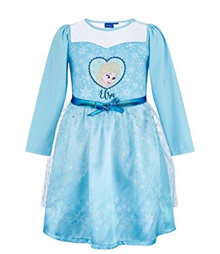 (Disney La reine des neiges Mädchen Kleid 2207, Blau Bleu, 8 Jahre)