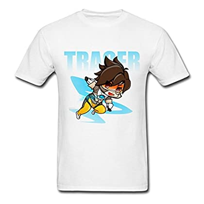 2016 Incomparable Overwatch Tracer Chibi Men T-...