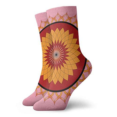 CVDGSAD Lotus Flower Tile Pattern Adult Short Socks Cotton Sports Socks for Mens Womens Yoga Hiking Cycling Running Soccer Sports Lotus Flower Dress