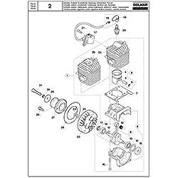 Joint de radiateur original pour Dolmar FM-33, FM-40 et FM-45