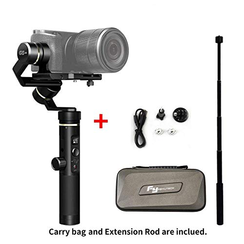 FeiyuTech G6 Plus 3-Axis Handheld Gimbal Stabilizer for Smartphone,Gopro,Canon Sony Micro Single (G6 Plus with Extension Rod) Ih Cam