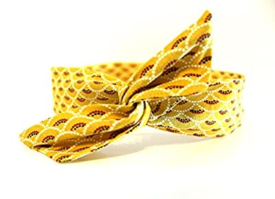 Bandeau rigide court jaune